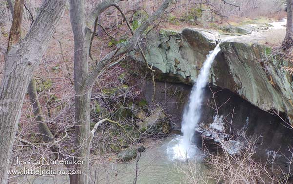 Williamsport Waterfall in Williamsport, Indiana