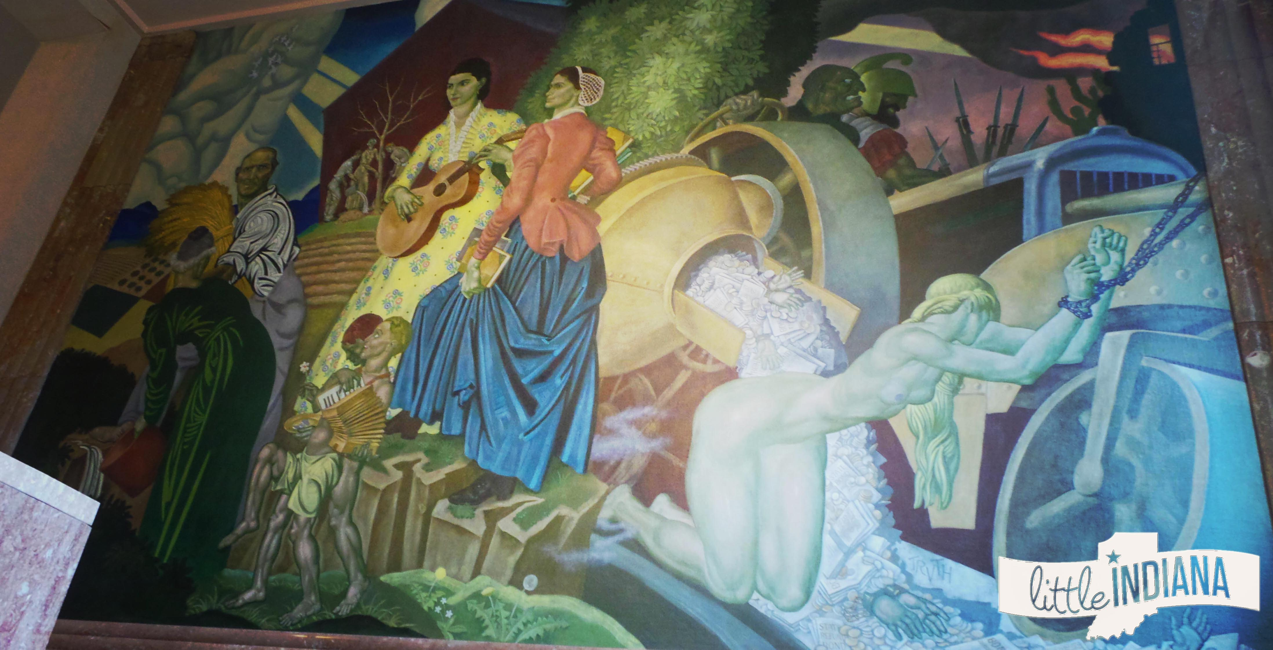 Indiana marshall county tippecanoe - Murals Eugene Savage Mural At Fountain County Courthouse Indiana