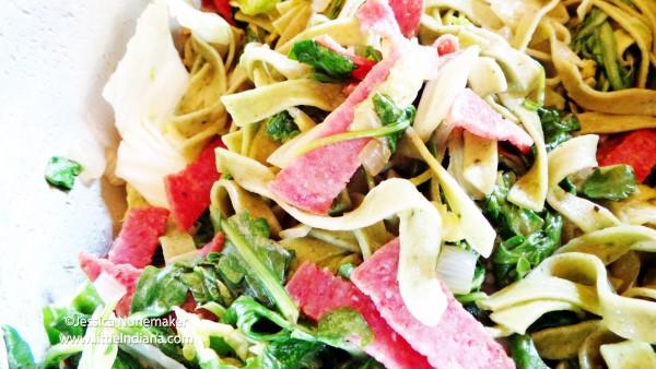 Spinach Fettucini Pasta Recipe