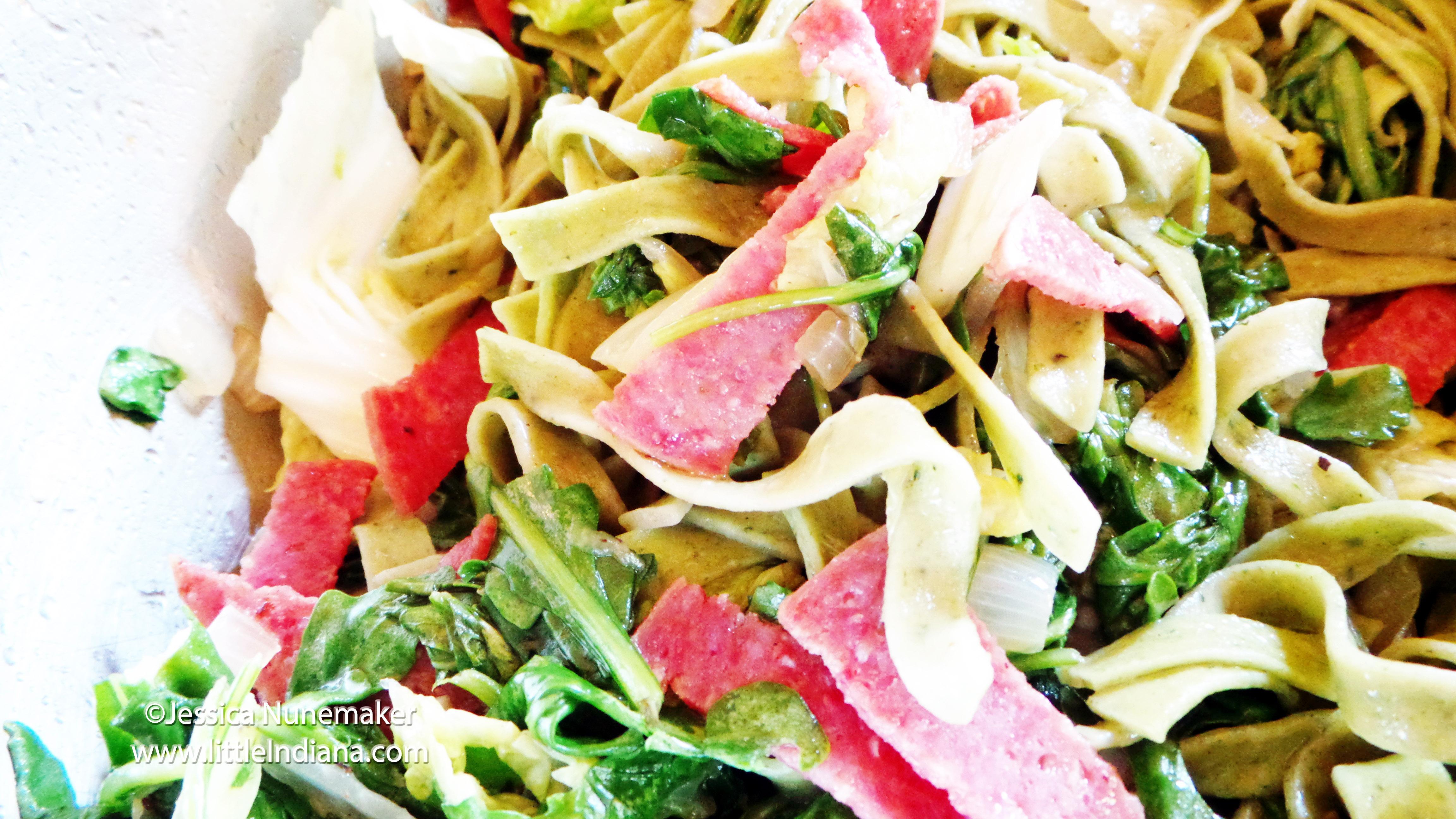 Spinach Fettuccini Pasta Recipe