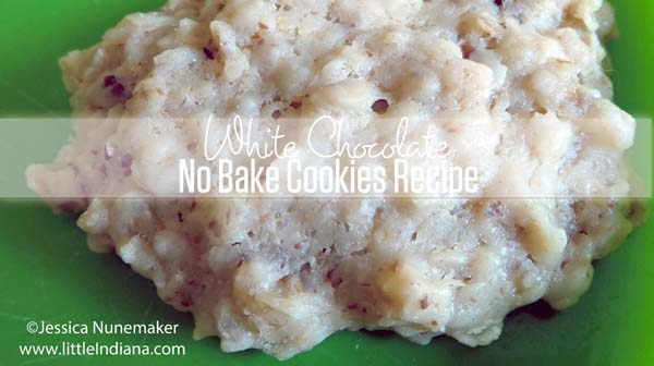White Chocolate No Bake Cookies