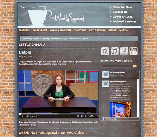 little Indiana on PBS in Delphi, Indiana