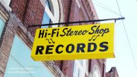 Hi Fi Stereo Records Shop in Fairmount, Indiana Exterior Sign