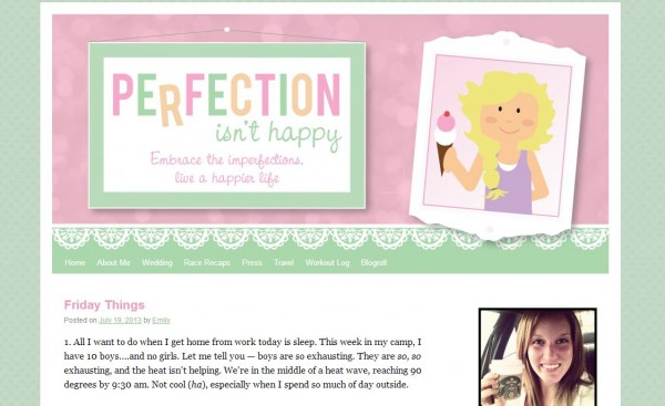 Indiana Blogs: Perfection isn't Happy