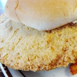 Social's Cafe in Swayzee, Indiana: Pork Tenderloin Sandwich