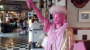 They even have a pink Statue of Liberty!