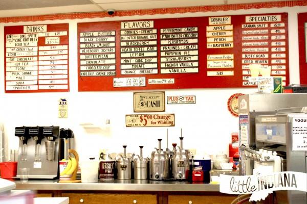 Miller's Ice Cream House Nashville, Indiana Menu