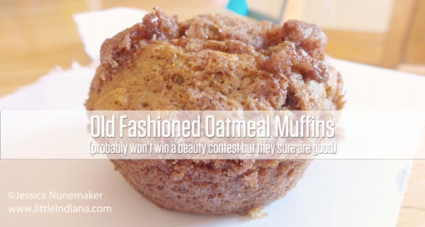Old Fashioned Oatmeal Muffins Recipe