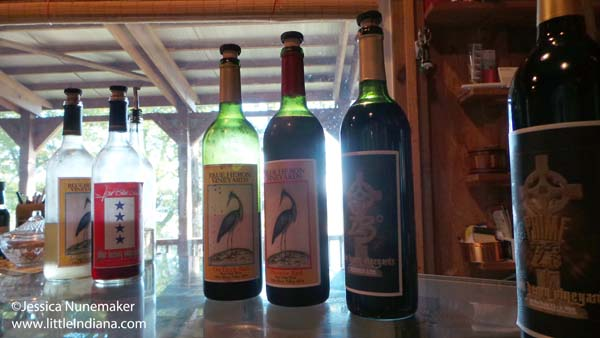 Blue Heron Winery in Cannelton, Indiana Wine