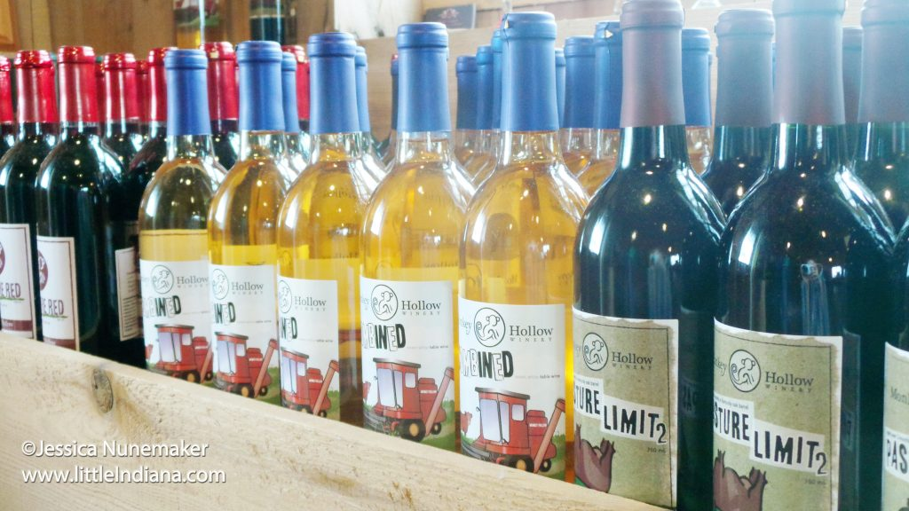 Images from Monkey Hollow Winery in St. Meinrad, Indiana