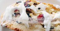 Cranberry Almond Biscotti White Chocolate Drizzle