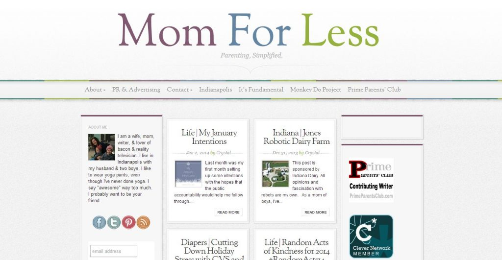 Indiana Blogs: Mom for Less