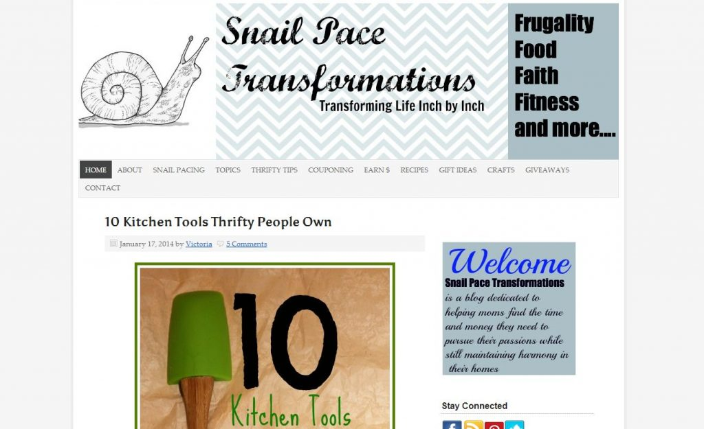 Indiana Blogs: Snail Pace Transformations