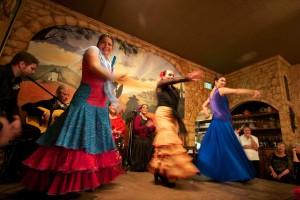 Flamenco dancers at Don Quijote Restaurant.