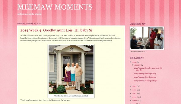 Indiana Blogs: Meemaw Moments