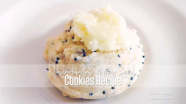 Thumbprint Poppyseed Cookies Recipe