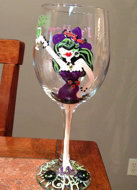 Wine glass at Barbara Jean's in Crown Point, Indiana