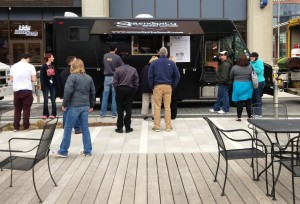 Serendipity, pictured at a Georgia Street Food Truck Friday event, offers handmade, modern cuisine.