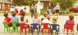 Neighborhood Block Party and Circus in Rensselaer, Indiana