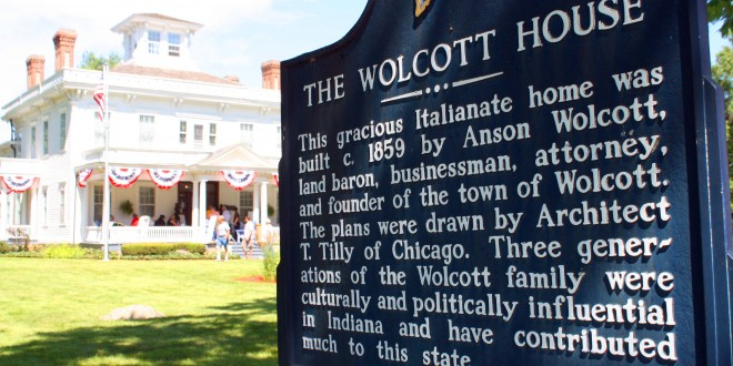 Images from Anson Wolcott House in Wolcott, Indiana