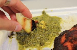 If you'd like to order the creamy palak paneer, follow Dhaba Indy on Facebook or Twitter to learn the truck's latest location!