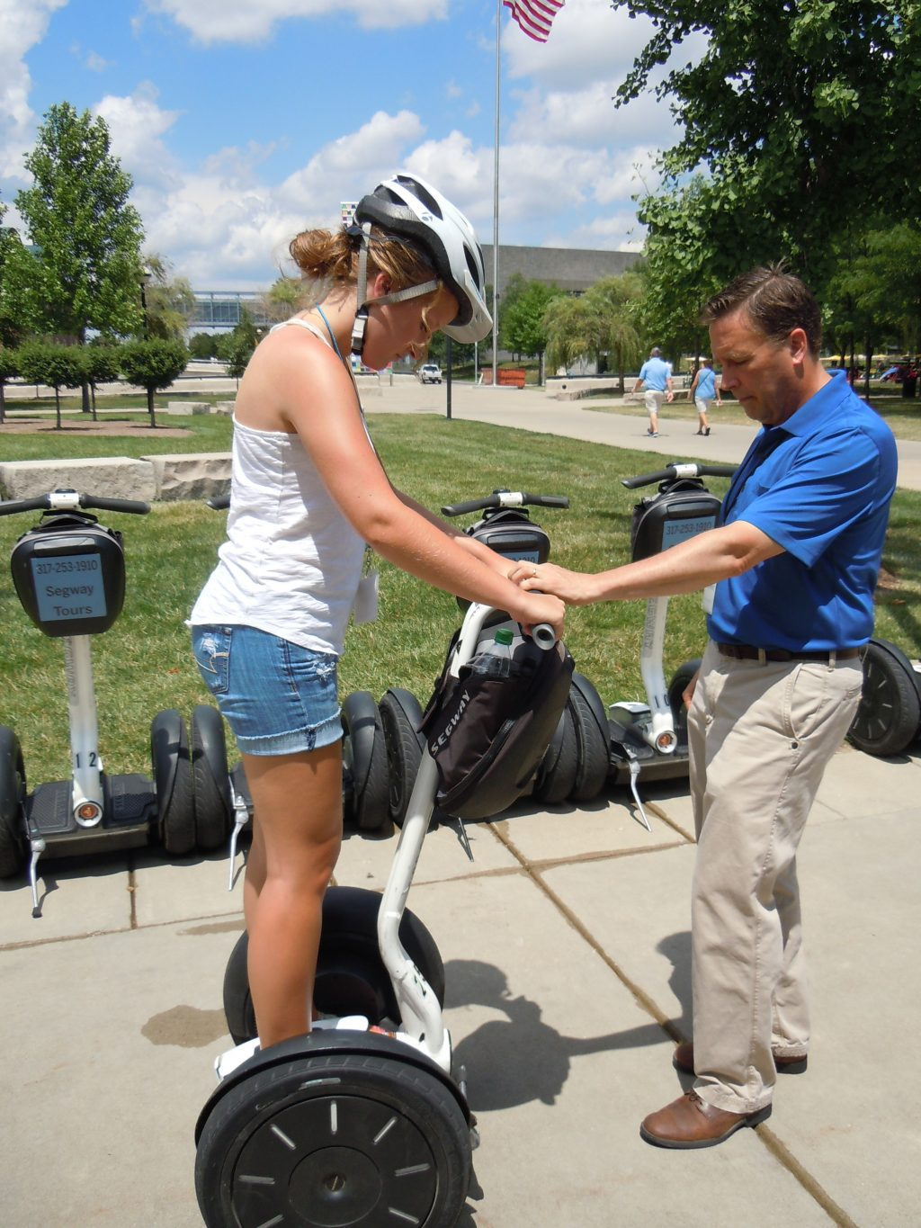 Indiana white county idaville - White River State Park Director Bob Whitt Gives A Segway Lesson To Emily Roark