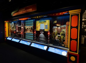 """Wayne Wheeler's Amazing Amendment Machine"" is just one of the many interactive installations in the exhibition."