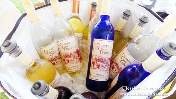 Carpenter Creek Cellars Winery at Dine and Discuss Event in Rensselaer, Indiana