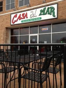 outdoor patio at Casa Del Mar in Valpo, Indiana