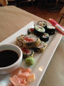 The sushi trio at Tommy B's in Valparaiso, IN