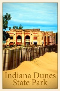 Air One sells great posters like this one of Indiana Dunes State Park.