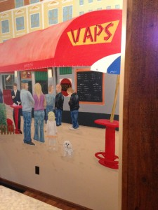 The mural at Vaps.