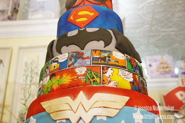 Super Heroes Cake at Chesterton Cake Shoppe in Chesterton, Indiana