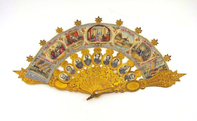 A new exhibit at the Indiana State Museum features Victorian-era objects, such as this memorial fan.