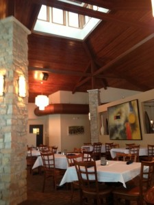 The dining room at Latitudes is elegant, yet casual.