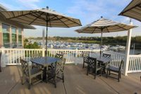 Check out the harbor view from Latitudes Waterfront Dining in Portage.