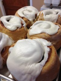 The cinnamon rolls at Suzie's Cafe in Valparaiso, Indiana are massive and wonderful.
