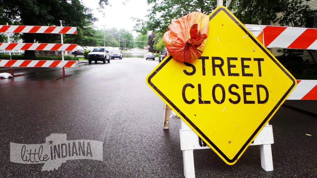 Streets are Closed All Over Rensseslaer, Indiana
