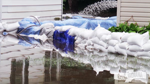 Flooding by Busy Bee Ice Cream in Rensselaer, Indiana