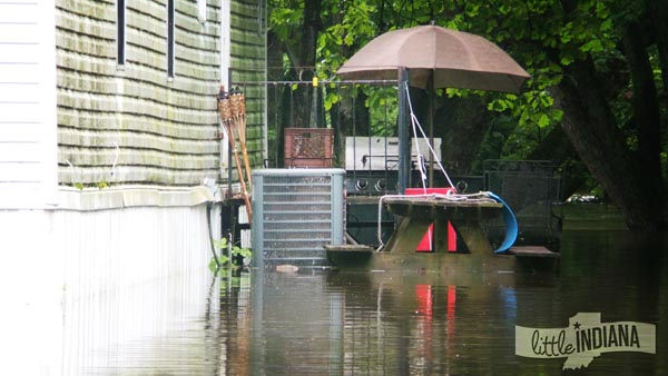 Water Touches a Rensselaer, Indiana Home