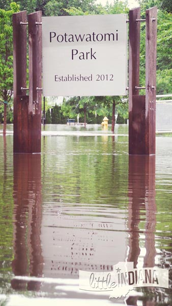 Potawatomi Park in Rensselaer is Underwater