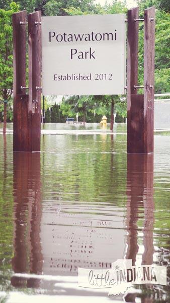 Potawatomi Park in Rensselaer is Underwater