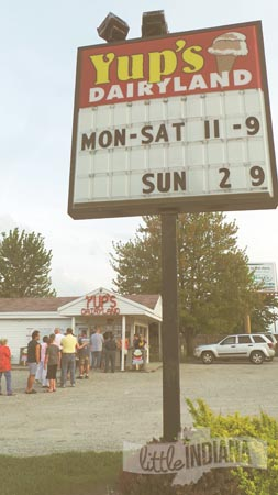 Yup's Dairyland in Middlebury, Indiana Hours for 2015