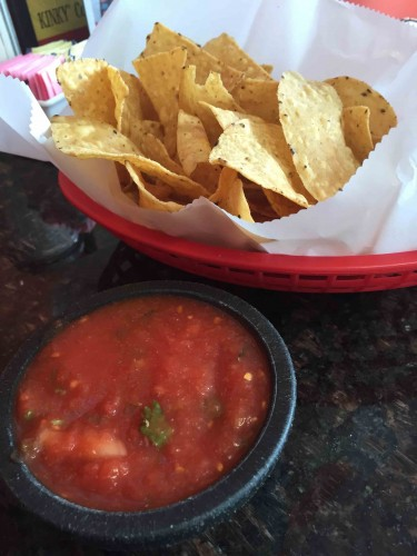 Chips and salsa, the perfect way to start off a meal.