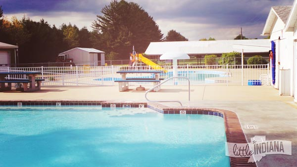 Eby's Pines Campground in Bristol, Indiana Swimming Pools