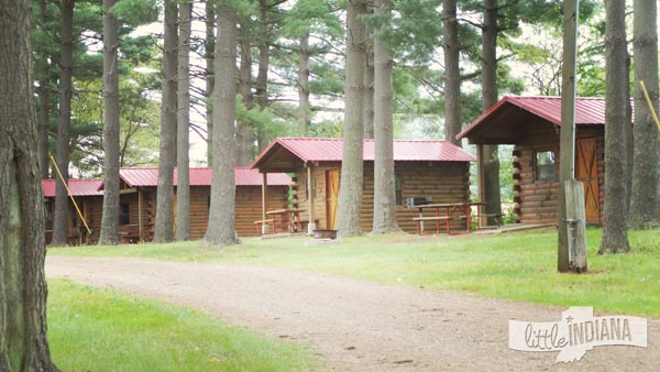 Eby's Pines Campground in Bristol, Indiana Rustic Cabins