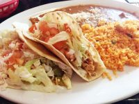 The chicken tacos at Serranos in Valparaiso, Indiana were filling and flavorful.