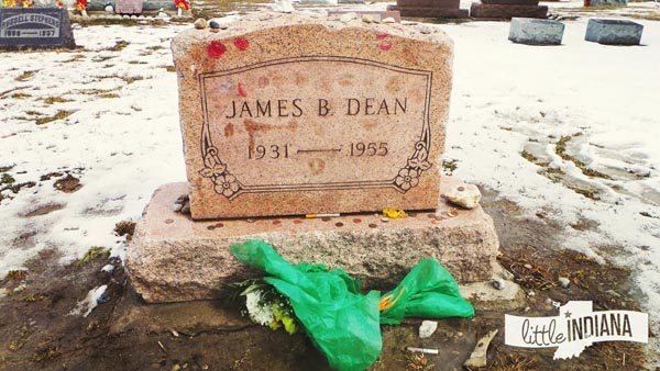 James Dean Headstone at Park Cemetery in Fairmount, Indiana