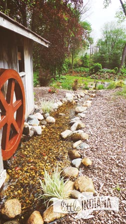 Working Water Wheel at Krider World's Fair Gardens in Middlebury, Indiana