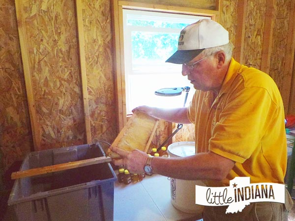 Pappaw's Hunny Farm Market Honey Extraction Process in Hagerstown, Indiana